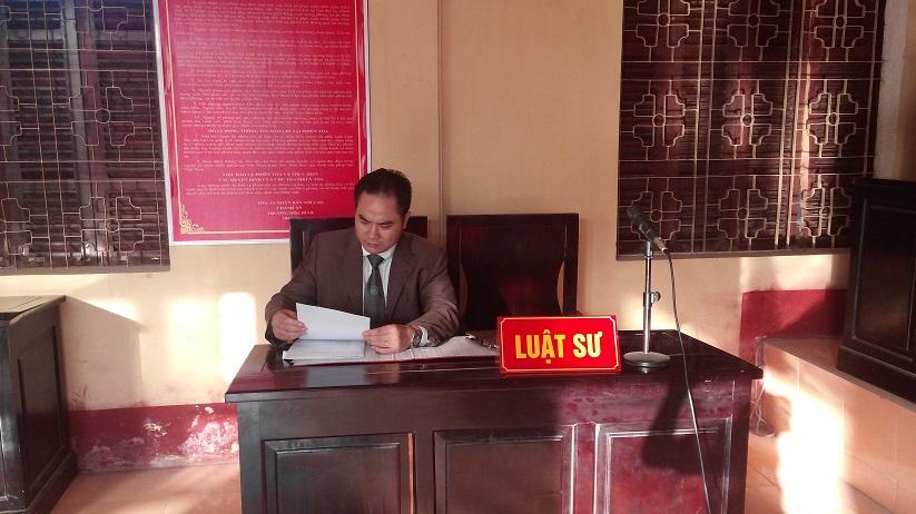 Luật sư Nguyễn Văn Thành - Luật sư giỏi tại Hà Nội tham gia bào chữa cho Thân chủ trong một vụ án Hình sự