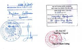 Chứng thực chữ ký người dịch là viên chức ngoại giao, viên chức lãnh sự