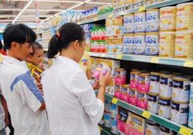 Nhãn sản phẩm sữa thay thế sữa mẹ dùng cho trẻ nhỏ