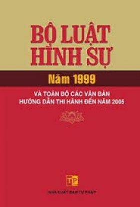 Bộ luật Hình sự năm 1999 (Sửa đổi bổ sung năm 2009)