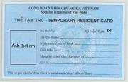 Thời hạn của thẻ tạm trú cho người nước ngoài