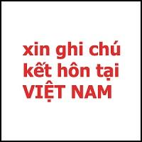 THỦ TỤC GHI CHÚ KẾT HÔN