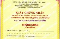 Trường hợp không thuộc diện cấp Giấy chứng nhận cơ sở đủ điều kiện an toàn thực phẩm